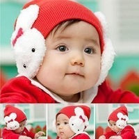 Baby hat newborn 100% cotton autumn and winter tire cap baby ear warm hat a248