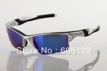 New Arrival Designer Half Jacket Sunglasses TR90 Silver Frame Black Logo Men's Women's  Sport Sunglasses Cycling Glasses