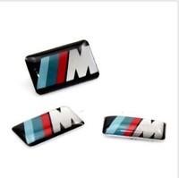 M Logo Steering Wheel Stickers M sticker Matel Sticker 3 Size 50pcs