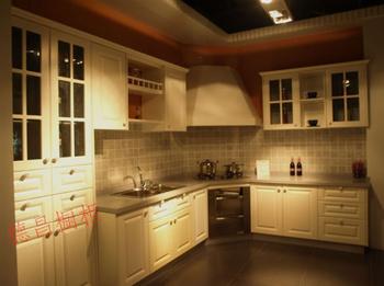 Modular kitchen cabinet customize quartz stone countertop plastic door