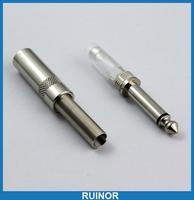 30 PCS  x 6.35mm  1/4 inch MONO TS Metal Plug 1/4 inch Jacks