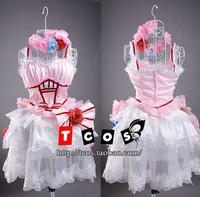 New Anime  karneval TSUKUMO costume coaplay Lolita pink skirt