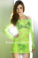 Free shipping new sexy fashion lace blouse 25125 fluorescence