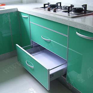 Modular kitchen cabinet quartz stone countertop uv paint door st-a17