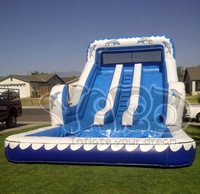 High quality summer water slide inflatable water slide with water pool