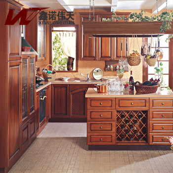 Sino american style kitchen cabinet kitchen customize nakajima solid wood kitchen cabinets