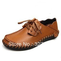 2013 brand new Genuine leather fashion business sneakers shoes for men.