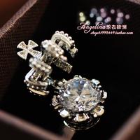Free shipping Top elegant zircon shining bling ring perfect