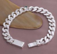 Hot sales!Free Shipping Wholesale 925 Silver Bracelets, Fashion Jewelry 10MM Chain Bracelets  YAB203