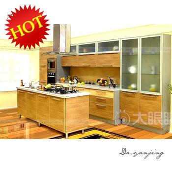 Lushuihe plate kitchen cabinet blum hinge quartz stone countertop sink