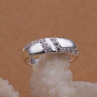 New!!! Free Shipping Silver Plated Rings,Fashion Zircon Rings,Wholesale Fashion Jewelry PCR235
