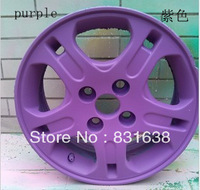Free shipping purple car body changing color changing color paint can tear flowing glue interior hub