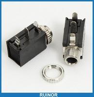 """200pcs x 1/8"""" 3.5mm Female Phono Mono PCB Panel Phone Jack,K1"""
