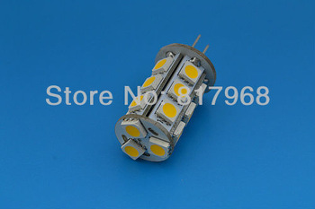 DC 12V G4 18 LED Lamp White/Warm White light SMD 5050 Home Car RV Marine Boat LED Bulb Lamps Free Shipping Wholesale