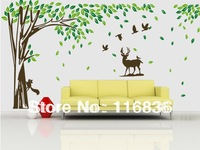 Free Shipping new decorative large forest tree vinly decals for home room Wall Stickers Decoration remove sticker 180*260CM