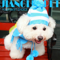 Free Shipping Dog 2013 hat scarf pet hat cat hat teddy bear hat scarf