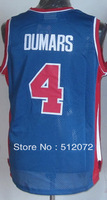 #4 Joe Dumars Men's Authentic Road Blue Throwback Basketball Jersey