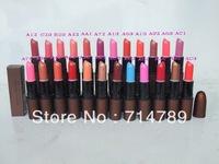 NEW free shipping makeup SATIN LIPSTICK ROUGE/LIP STICK 3g many colors choose(12pcs/lot)