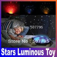 Feeding Stuffed Animals Plush Movies TV Baby kids Classic Toy sleep turtle lights the stars Luminous toy pink gray drop shop