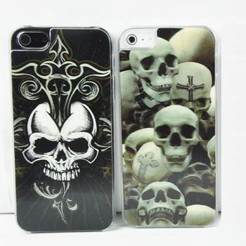 3D 4D Ocean Skeleton Skull Hard Case for iPhone 5 5G, Mix design+100pcs