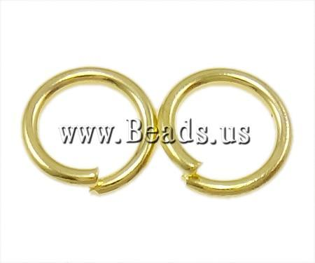Free shipping!!!Iron Closed Jump Ring,Cheap Jewelry, Donut, gold color plated, nickel, lead & cadmium free, 0.90x6mm(China (Mainland))