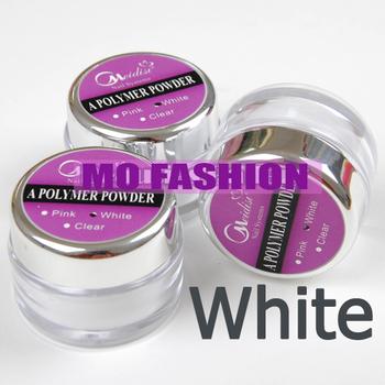 free shipping 2013 new hot sale 3pc Jumbo size nail white Acrylic Powder Liquid Art Tips UV gel dust 1074