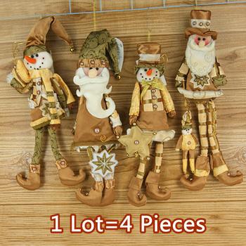 "Drop Shipping,2014 New Arrival,wholesale 4 pcs lot 15"" Christmas Hanging Ornaments Decoration Santa Claus Snowman,SHB057"