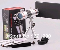 18X Optical Zoom Mobile Phone Telescope Lens with Tripod for iPhone 5  N7100 S3 S4 with Plastic Case free shipping