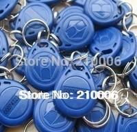 100pcs 125Khz em keyfob RFID Proximity ID EM4305 Keyfobs with Metal Ring (Free shipping)