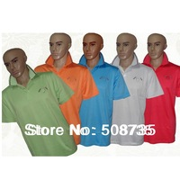 10pcs/lot Free Shipping Fashion Men's Sport Short sleeves For Golf