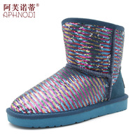 Heterochrosis 2013 paillette multicolour snow boots cotton-padded shoes