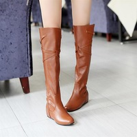 2013 boots over-the-knee boots elevator boots with buckle female