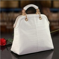 Free Shipping 2013 Fashion  Women's Handbag Quality Elegant Women's Crocodile Pattern Handbag Women's Casual Bag