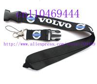 Wholesale  Hot 30pcs Volvo Car Logo Lanyard/ MP3/4 cell phone/ keychains /Neck Strap Lanyard WHOLESALE Free shipping