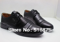 2013 spring new fashion man genuine leather shoes high quality free shipping,Black