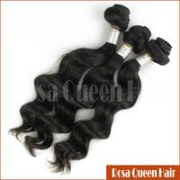 Real Cheap 6A Best Quality Loose Wave Virgin Remy Peruvian Hair Bulk Guangzhou Hair Free Shipping Rosa Queen Hair
