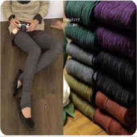 Cotton twisted pantyhose step foot socks female legging