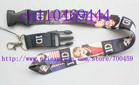 Wholesale  Hot 30pcs ONE DIRECTION Phone Lanyard Key ID Neck Strap