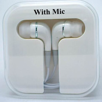 wholesales 10pcs/lot Free shipping black white Earphone with mic for your cell phone,excellent design