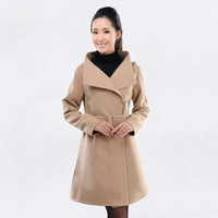 2013 Winter new Korean female temperament Slim woolen coat thick woolen coat jacket free shipping DY4