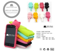 1pcs Free ship original deere PAPA Cat Silicone Case Cover For Samsung Galaxy S2 i9100+retail package ,dust proof