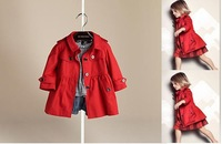 free shipping/ NEW children clothing/ /kids coats/ NCollege Wind temperament cotton double coat windbreaker