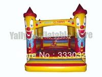 Hot cut clown bouncer house mini jumper inflatable house 3x3m high quality bouncy castle