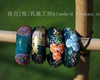 National accessories wide mango wool bracelet blue quality