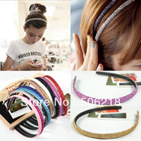 NEW Wholesale lots 10pcs  mixed Shining Glitter Girls Plastic Glitter Headband Hair Band Accessories