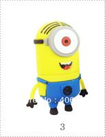 Wholesale Hot sale - Despicable Me 2 , 30pcs/lot 8GB - 32GB USB 2.0 Flash Memory Stick Drive Festival /Car/Gift