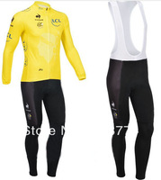 2013 New Design Tour The France Winter Fleece/Thermal Cycling Jersey(Maillot)+Bib Pant(Lower)/Bicycle Wear/ Bikling Cloth/Cycle