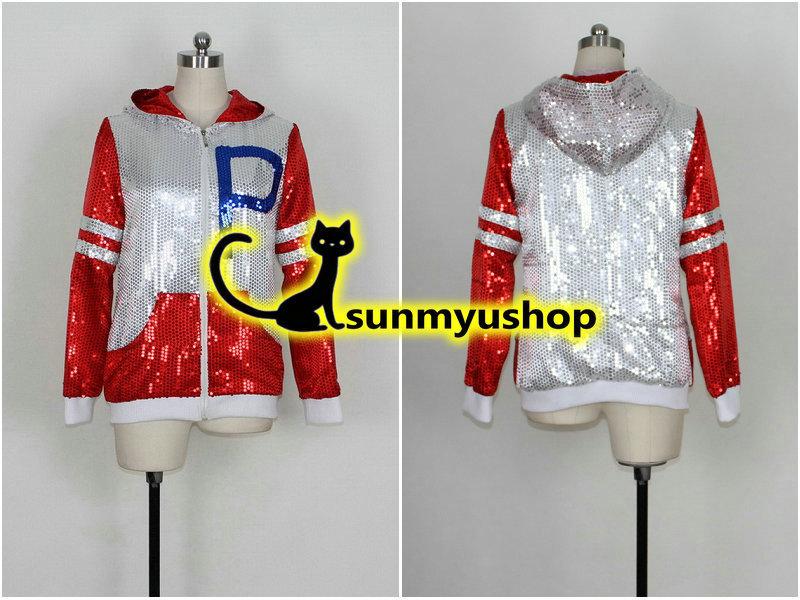 Sakurai Sho Taboo Arashi Tomadoi Nagara Sakurai Sho Red Spangle Jacket Cosplay Costume
