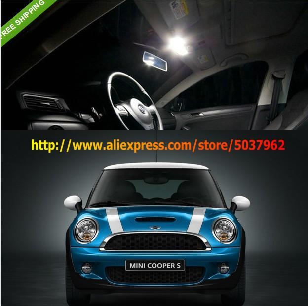 Free Shipping 11 Lights LED SMD Interior Lights KIT Error Free Mini Cooper Hatchback R55 R56(China (Mainland))
