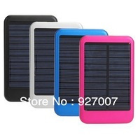 Top quality full real 5000MAH solar charger for iphone 4 4s 5 Galaxy S3 S4 Ipad 3